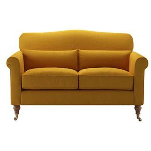 Dahlia 2 Seat Sofa In Mango Brushed Linen Cotton