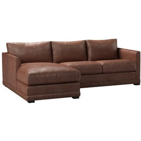 Aissa Small Lhf Chaise Storage Sofa In Satchel Vinta...
