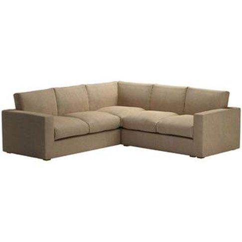 Stella Medium Corner Sofa In Flax Pure Belgian Linen