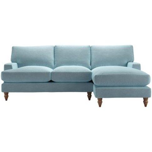 Isla Medium Rhf Chaise Sofa In Powder Blue Smart Velvet