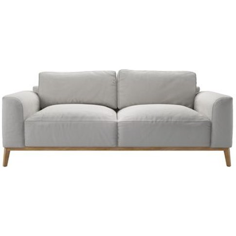 Freddie 3 Seat Sofa in Alabaster Brushed Linen Cotton