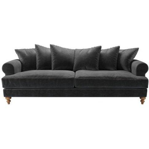 Teddy 4 Seat Sofa In Armour Smart Velvet