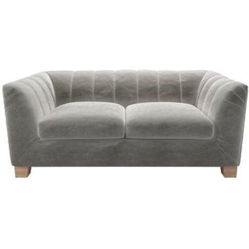 Albie 2 Seat Sofa In Squirrel Cotton Matt Velvet