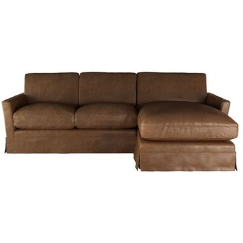 Otto Medium Rhf Chaise Sofa In Tan Vintage Leather