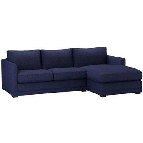 Aissa Small Rhf Chaise Sofa In Woad Soft Wool
