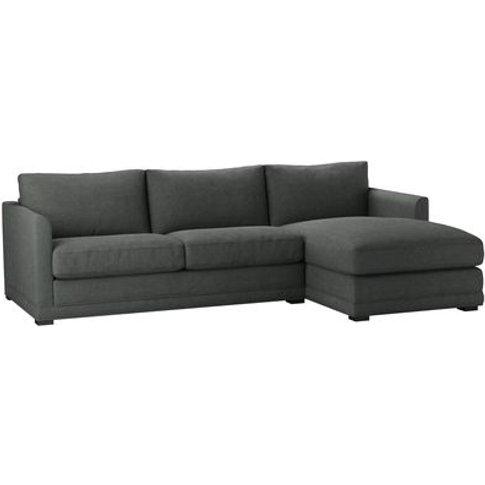 Aissa Medium Rhf Chaise Sofa In Wells Norfolk Cotton