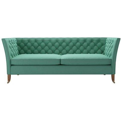 Descartes 3 Seat Sofa In Jungle Smart Linen