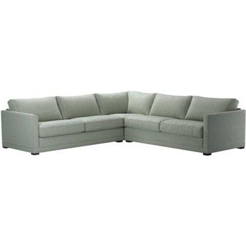 Aissa Large Corner Sofa In Ocean Diamond Viscose Cotton