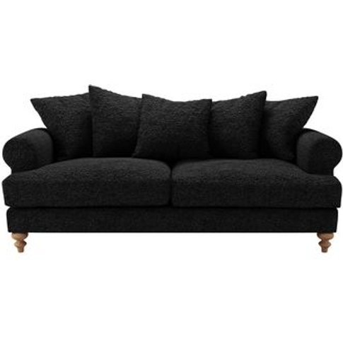 Teddy 3 Seat Sofa In Ashford Textured Boucle