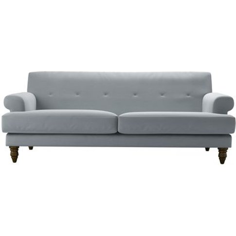 Remy 3 Seat Sofa In Sealion Smart Cotton