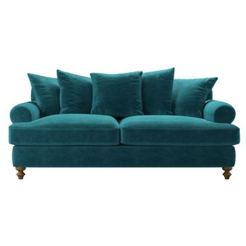 Teddy 3 Seat Sofa Bed In Neptune Smart Velvet