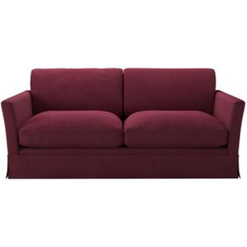 Otto 2.5 Seat Sofa In Boysenberry Brushed Linen Cotton