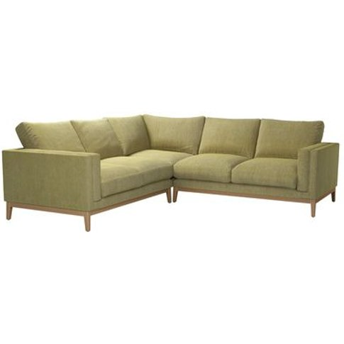 Costello (Plinth) Medium Corner Sofa In Chartreuse C...