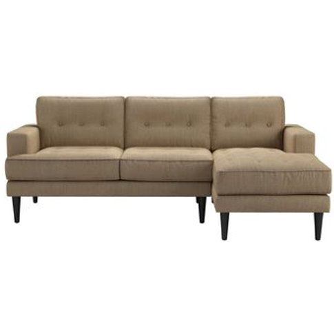 Mabel Medium Rhf Chaise Sofa In Flax Pure Belgian Linen