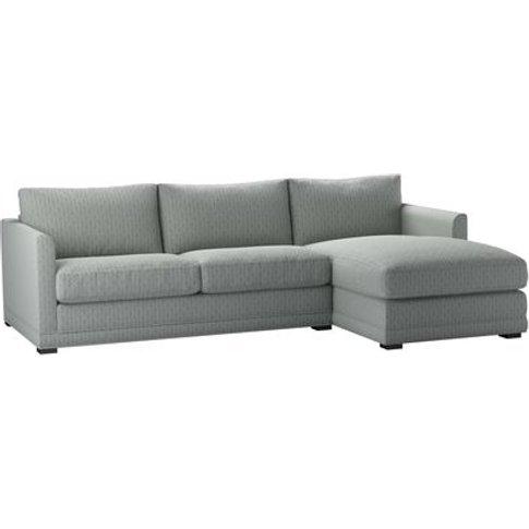 Aissa Medium Rhf Chaise Storage Sofa In Nickel Hawthorn Stencil