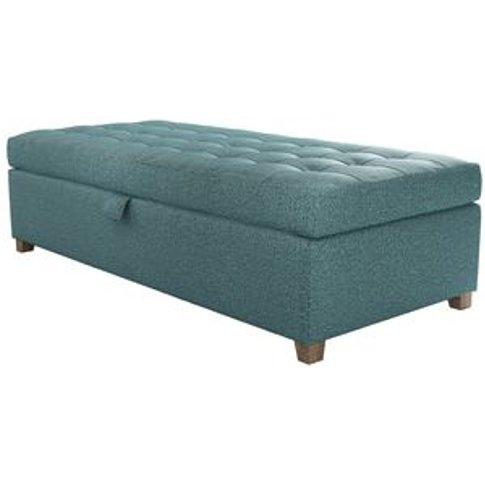 Club Large Rectangular Storage Footstool In Crocodil...