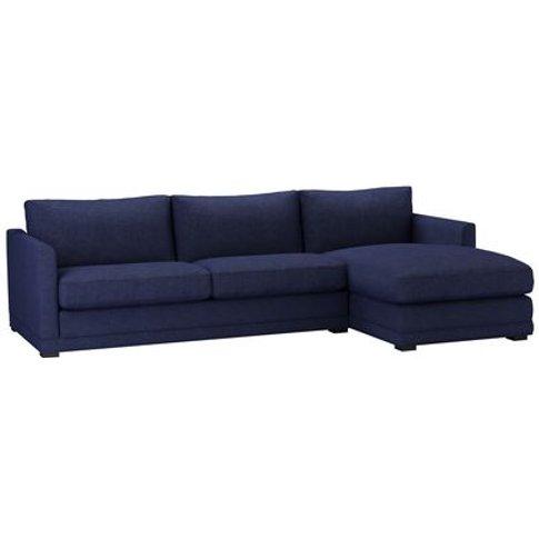 Aissa Large Rhf Chaise Sofa In Woad Soft Wool