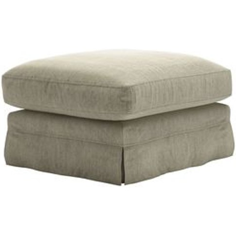 Otto Large Rectangular Footstool In Cashmere Chenille