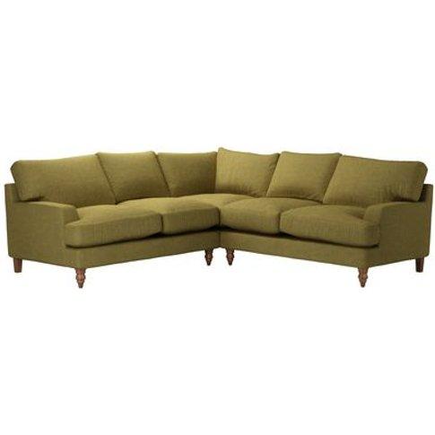 Isla Medium Corner Sofa In Mossymere Norfolk Cotton
