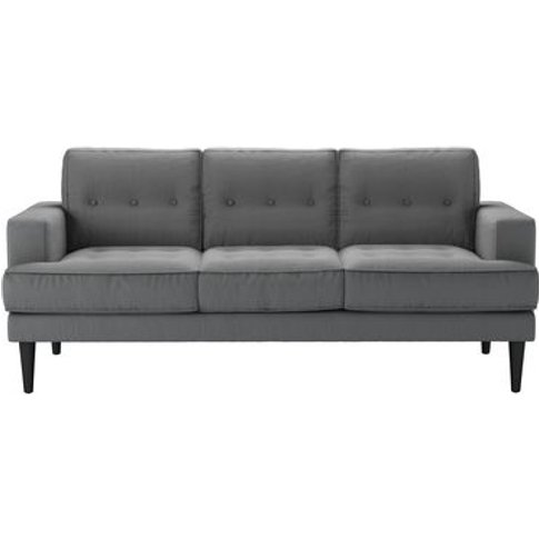 Mabel 3 Seat Sofa In Shadow Brushed Linen Cotton