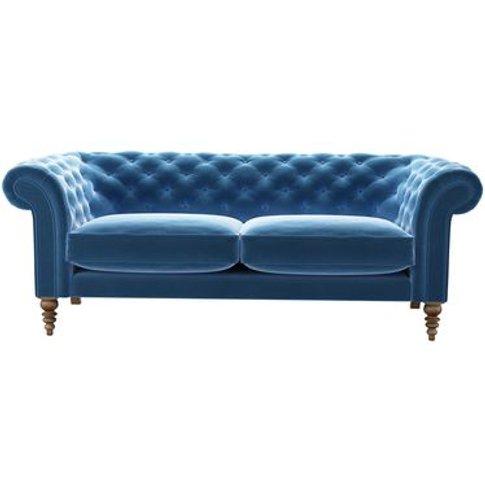 Oscar 3 Seat Sofa In Bahama Cotton Matt Velvet