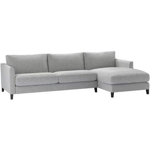 Izzy Large Rhf Chaise Sofa In Hedgehog Dappled Visco...