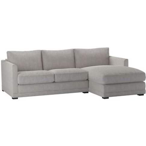Aissa Small Rhf Chaise Sofa In Rye Baylee Viscose Linen