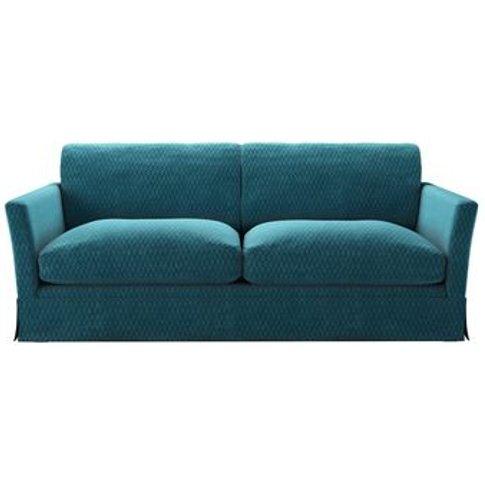 Otto 3 Seat Sofabed In Capri Velvet Jacquard