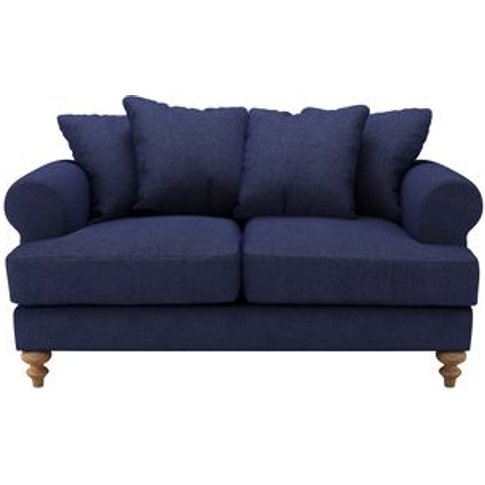 Teddy 2 Seat Sofa In Woad Soft Wool