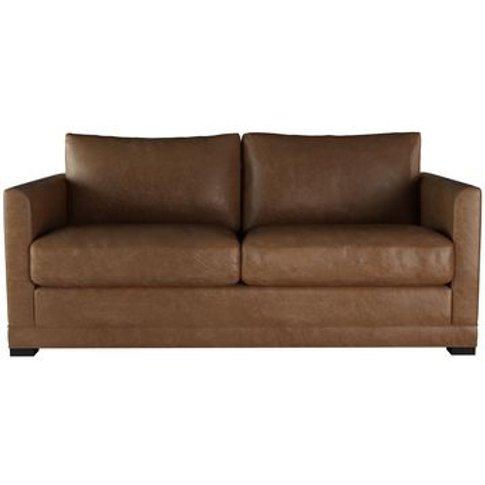 Aissa 2.5 Seat Sofa (Breaks Down) In Tan Vintage Leather