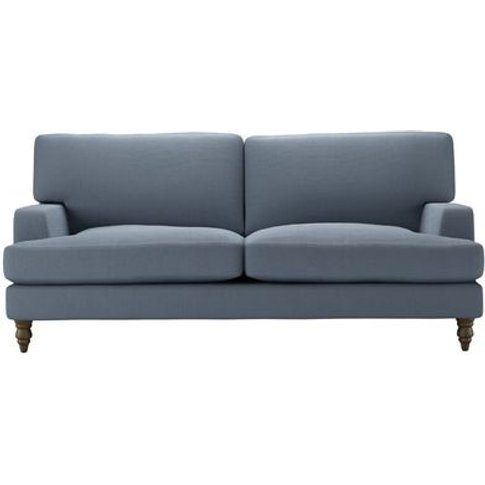Isla 3 Seat Sofa In Loch Brushed Linen Cotton