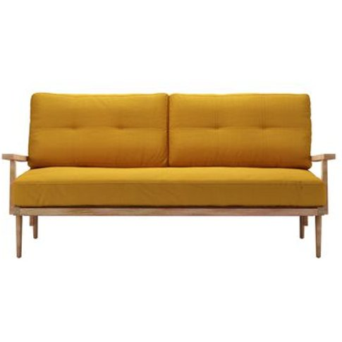 Hendrik 3 Seat Sofa In Mango Brushed Linen Cotton