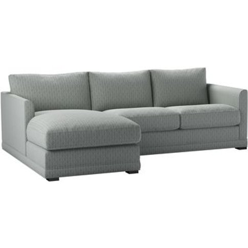 Aissa Small Lhf Chaise Sofa In Nickel Hawthorn Stencil