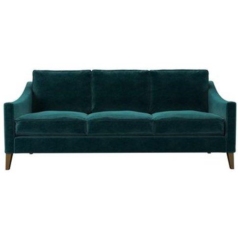 Iggy 3 Seat Sofa (Breaks Down) In Jade Smart Velvet