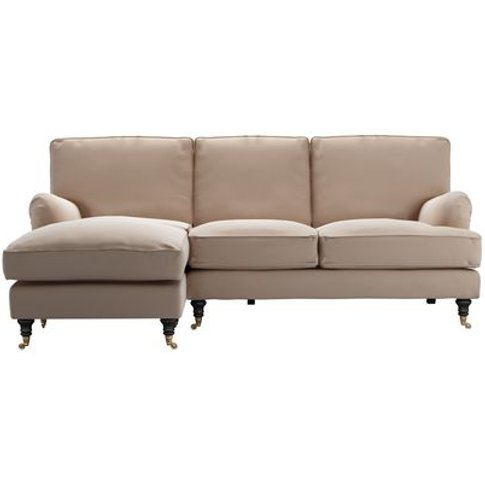 Bluebell Lhf Chaise Sofa In Mouse Smart Cotton
