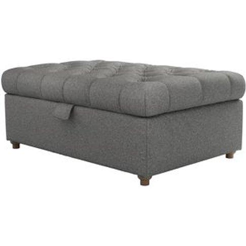 Valentin Medium Rectangular Storage Footstool In Fal...