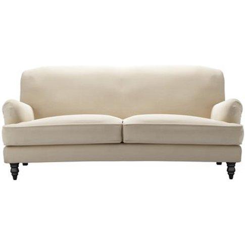 Snowdrop 3 Seat Sofa (Breaks Down) In Moon Smart Cotton