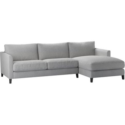 Izzy Medium Rhf Chaise Sofa In Stepping Stone Dovedale