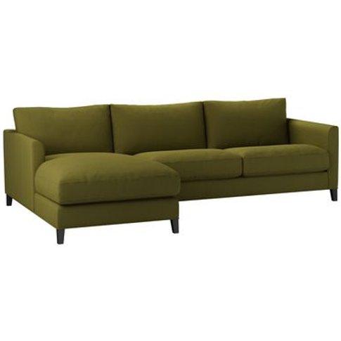 Izzy Medium Lhf Chaise Sofa In Royal Fern Brushed Li...