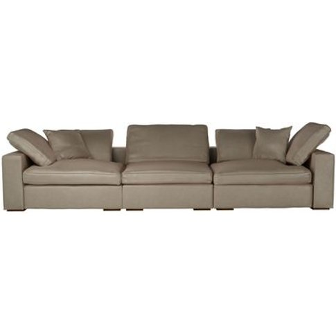 Long Island 3 Seat Sofa In Latte Bellwether Leather