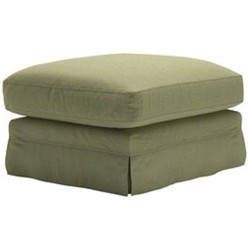 Otto Large Rectangular Footstool In Valley Dovedale