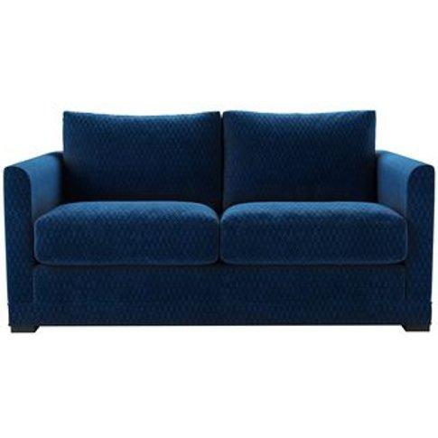 Aissa 2 Seat Sofabed In Royal Blue Velvet Jacquard