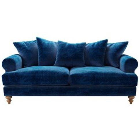 Teddy 3 Seat Sofa In Navy Filigree