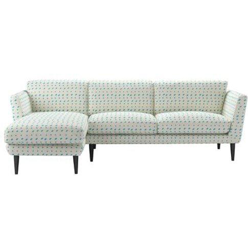 Holly Left Hand Chaise Sofa In Gail Bryson - Cerulea...