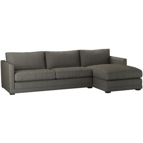 Aissa Large Rhf Chaise Sofa In Chia Baylee Viscose L...