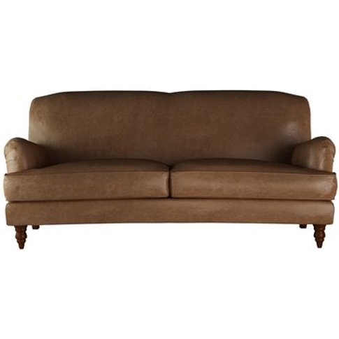 Snowdrop 3 Seat Sofa In Tan Vintage Leather