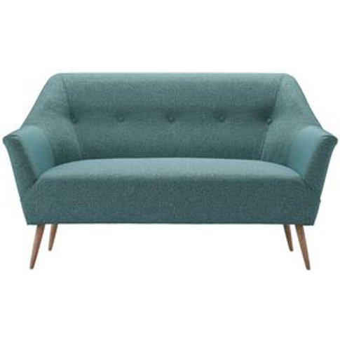 Minnie 2 Seat Sofa In Crocodile Dappled Viscose Wool