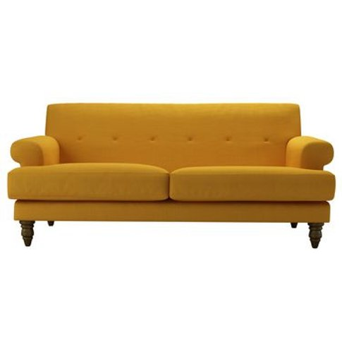 Remy 2.5 Seat Sofa In Mango Brushed Linen Cotton