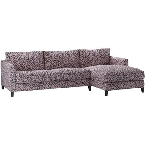 Izzy Medium Rhf Chaise Sofa In Pink Elephant Jungle Cat