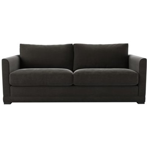 Aissa 3 Seat Sofabed In Battleship Grey Smart Cotton